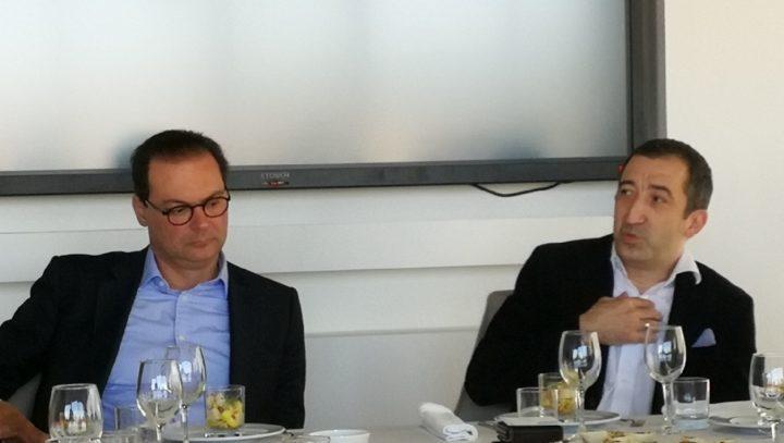 Pedro Pinto Coelho, presidente executivo do Banco BNI Europa, e Xavier Corman, CEO da Edebex
